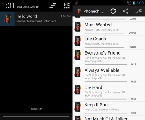 Phonechievements - Android - Free