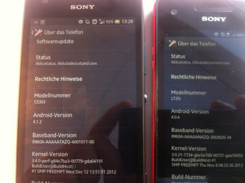 Sony Xperia SP makes a cameo, to be Xperia V�s larger pal