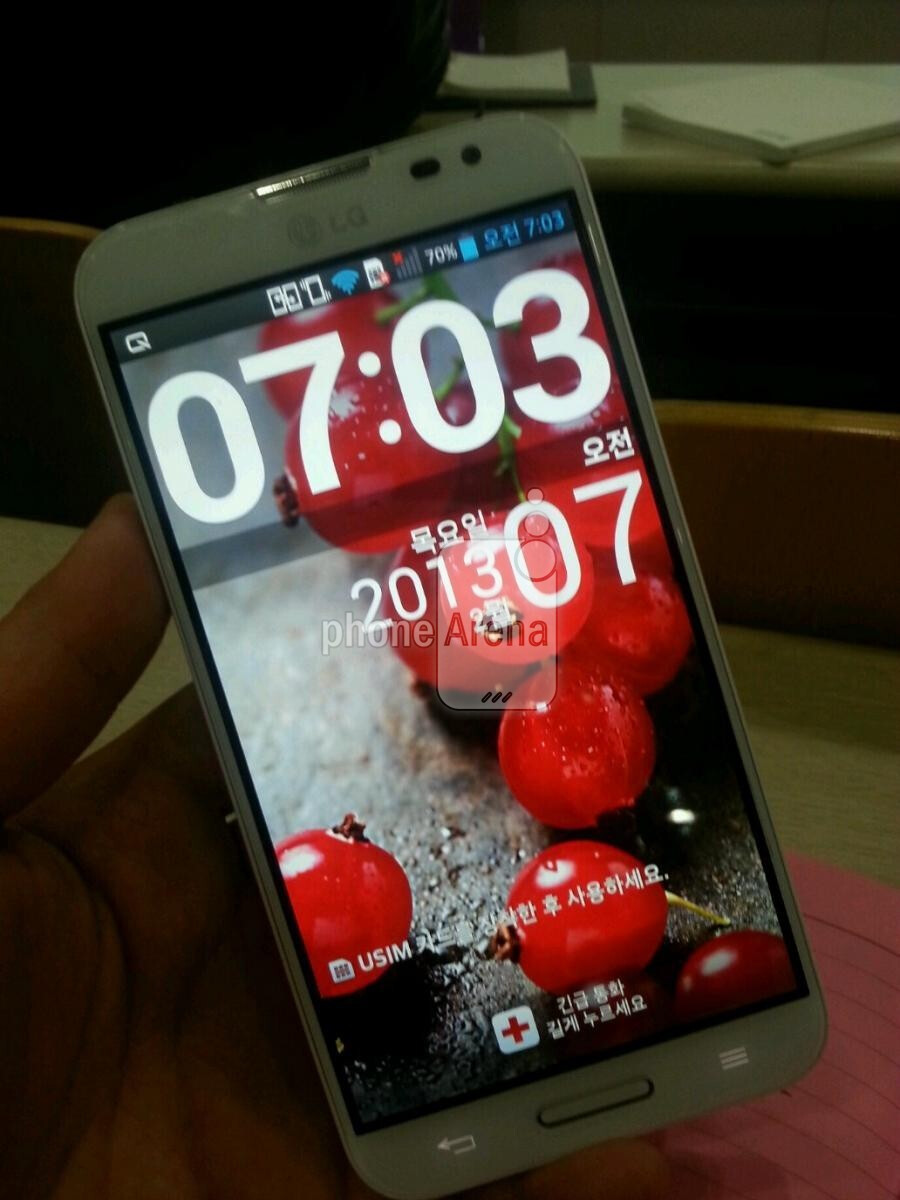 """5.5"""" LG Optimus G Pro picture and specs sheet are in: Full HD screen, 3140 mAh battery and microSD"""