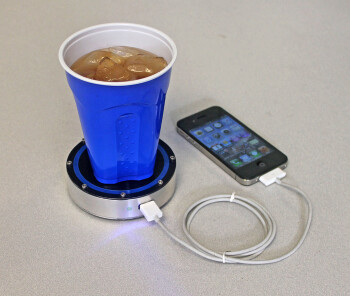 A cold soda can recharge your Apple iPhone