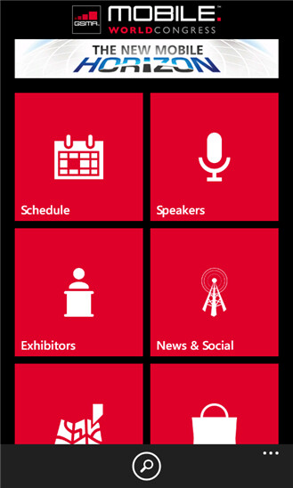 Official GSMA MWC 2013 app for Windows Phone