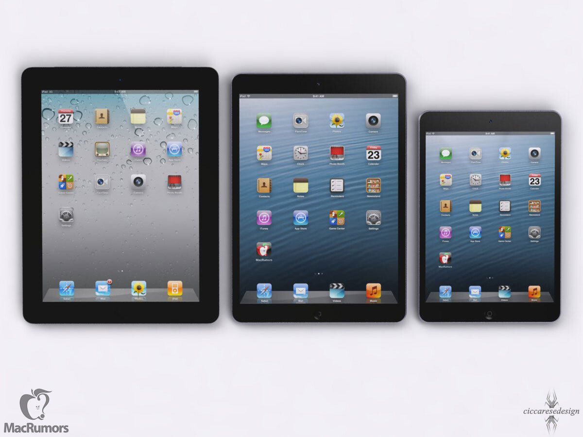New iPad 5 concept renderings size it up with the iPad ...