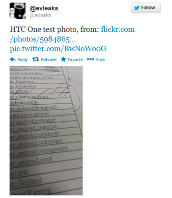 This tweet is said to show off a picture taken from the HTC One