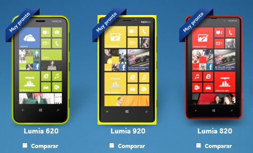 These three handsets are expected to come to Mexico - Nokia Lumia's Windows Phone 8 line is heading to Mexico?