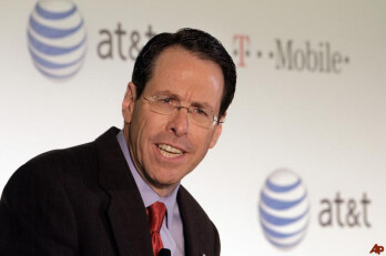 AT&T CEO Randall Stephenson explains the ill-fated AT&T bid for T-Mobile to the media in March, 2011