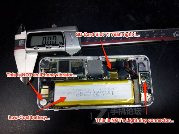 Pictures of the Apple iPhone 5S were actually of iPhone clones - Apple iPhone 5S pictures prove to be of cheap clones