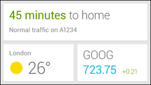 A Google Now widget