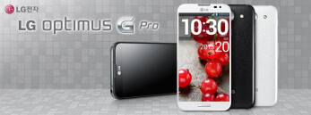 The LG Optimus G Pro will be available in black or white