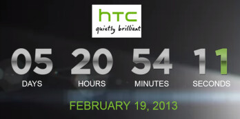 The HTC countdown timer ticks toward the HTC One introduction