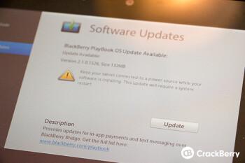 The BlackBerryPlayBook gets an update