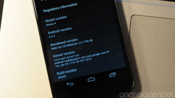 Android 4.2.2 is getting pushed out to the Google Nexus 4