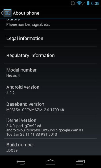 Android 4.2.2 update breaks the unofficial LTE support for Google Nexus 4