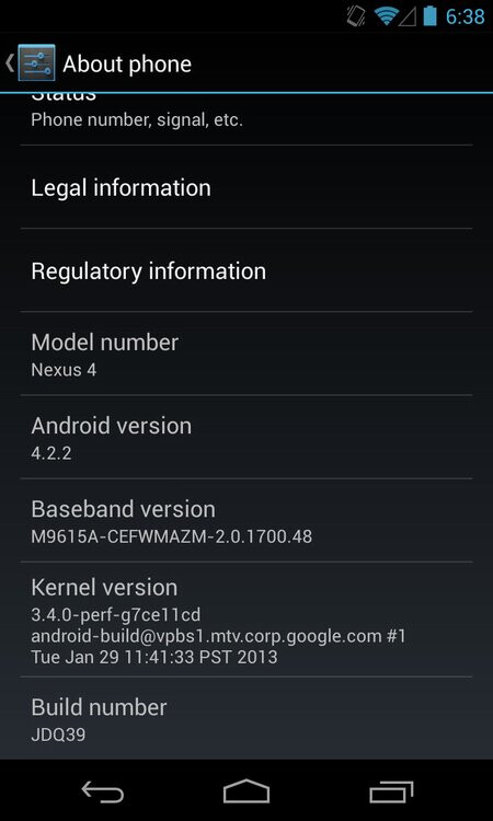 Android 4.2.2 update breaks the unofficial LTE support for Google Nexus 4 - Unofficial LTE support for Google Nexus 4 gone after Android 4.2.2 update
