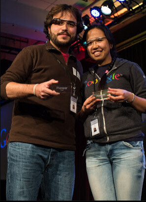 The winning group got their Google Glass paid for by Google