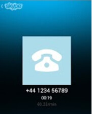 Screenshot of an international Skype call - Skype now accounts for a third of international calls