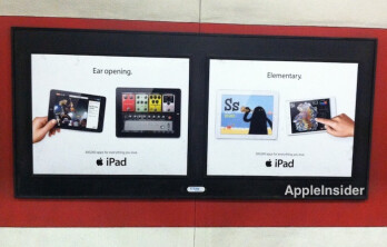Apple's new billboard ads for the Apple iPad