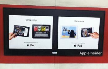 Apple's new billboard ads for the Apple iPad