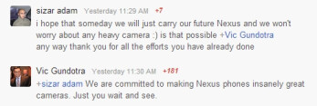 Google's Vic Gundotra says Nexus phones are to become 'insanely great cameras', just you wait