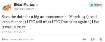 Eldar Murtazin says that the Samsung Galaxy S IV will be introduced on March 14th