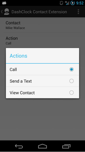 DashClock Contacts Extension
