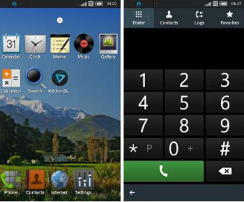 Screenshots of Tizen