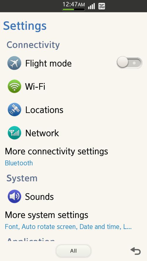 Screenshots from Tizen 2.0
