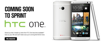 Sprint customers can pre-register for the HTC One