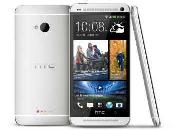 HTC One (left) next to its predecessor, the HTC One X (right)
