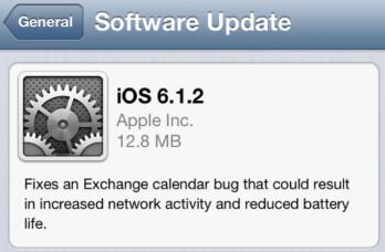 Apple has released iOS 6.1.2