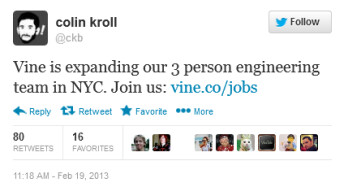 This tweet from Vine's co-founder leads to the clue about the upcoming Android version of the app