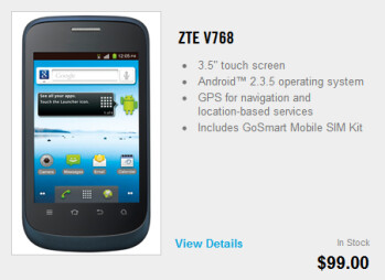 The two phones available from GoSmart