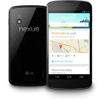 The Google Nexus 4 runs Android 4.2.2