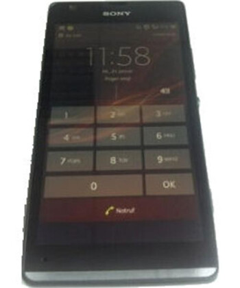 Picture allegedly of the Sony Xperia SP