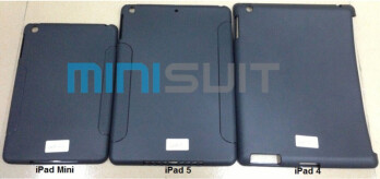 In the middle is MiniSuit's case for the 5th-gen Apple iPad