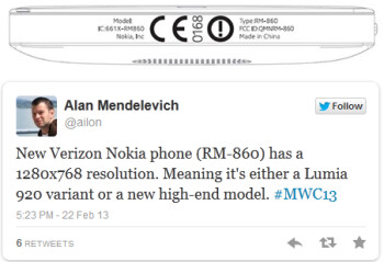 On top, image from the FCC, Mendelevich's tweet on bottom