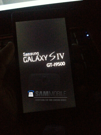 Is this the boot screen for the Samsung Galaxy S IV?