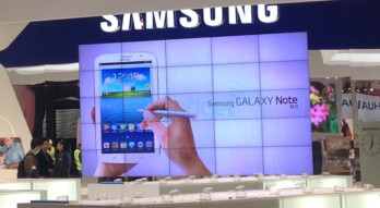 The Samsung Galaxy Note 8.0 has a large display at MWC