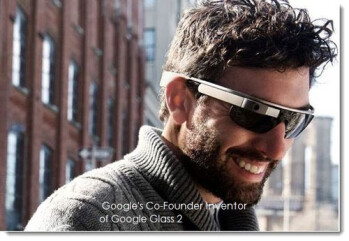 Google co-founder Sergey Brin models G