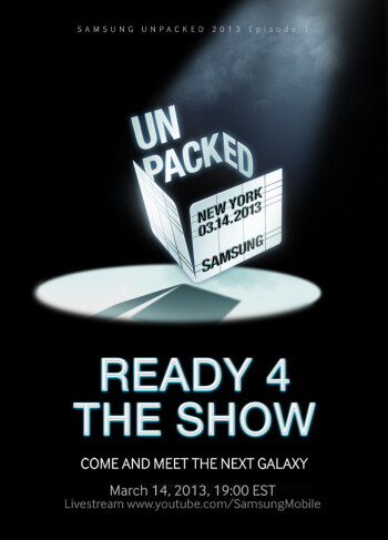 Samsung sends out press invites for March 14: can you say Galaxy S IV?