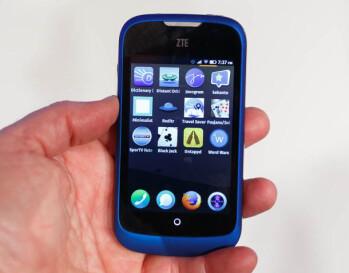 A ZTE branded handset running Firefox OS