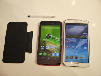 Alcatel One Touch Scribe HD vs Samsung Galaxy Note II