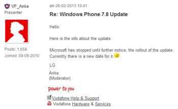 Microsoft has halted the rollout of Windows Phone 7.8?