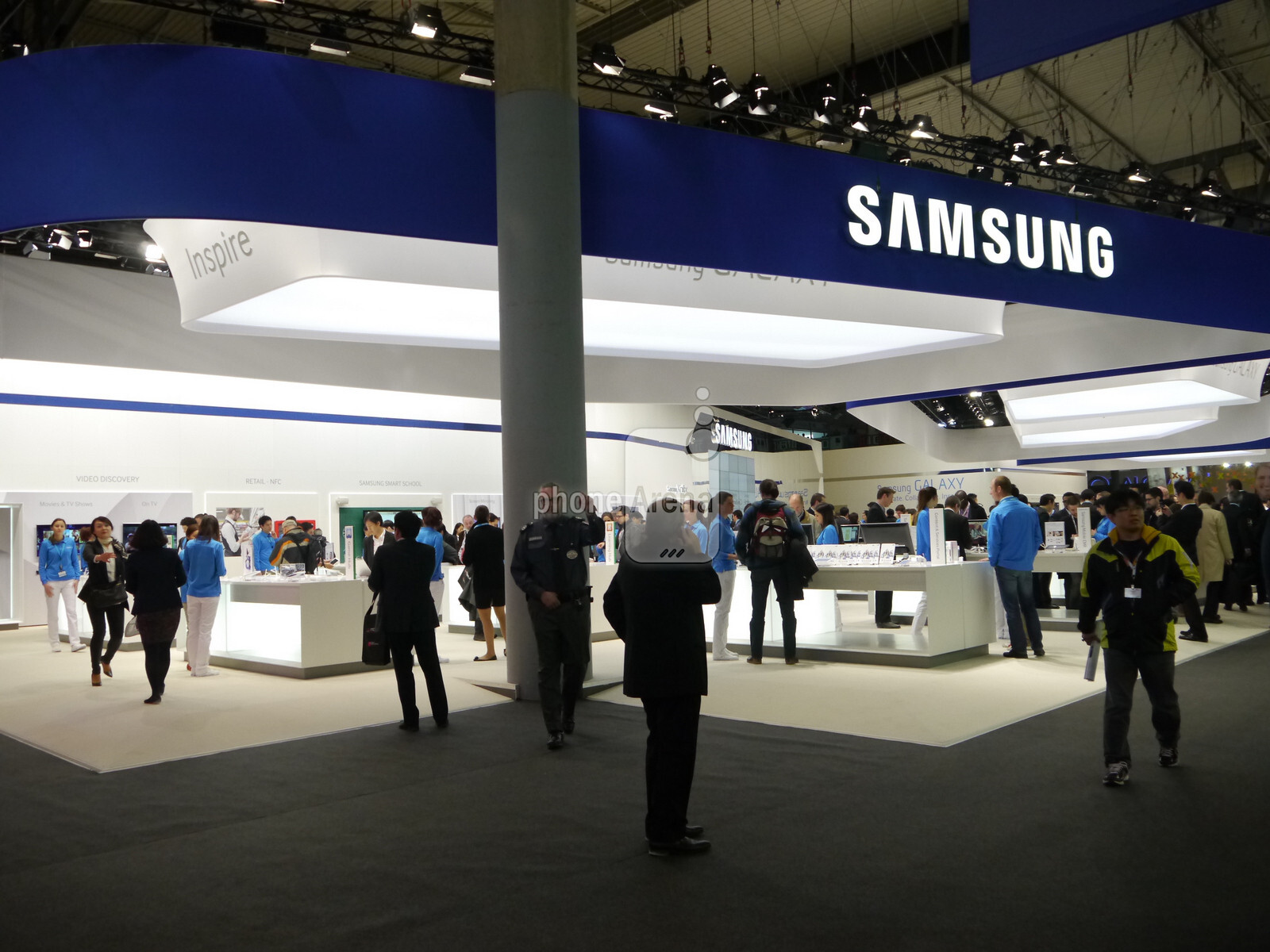 The Samsung booth - simply huge, despite the dearth of announcements