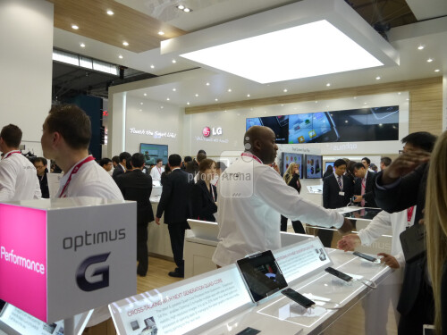 LG had all of its announcements before the show, but it still had to show six new phones, so it had plenty of presence