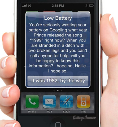 Low Battery Warning humor
