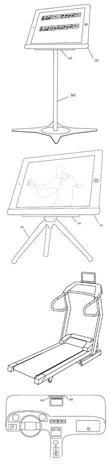 Various uses for the patented magnetic iPad stand