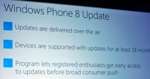 Microsoft promises not to botch Windows Phone 8 device sales and promises an update path