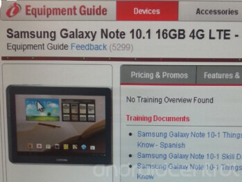 Accessories for the Samsung Galaxy Note 10.1 LTE have been seen at Verizon