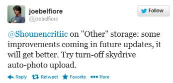Belfiore's tweet says a fix is coming
