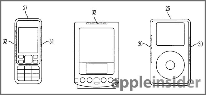 Another image from Apple's patent - New Apple patent allows users to control a device by squeezing the case